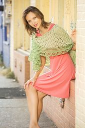 Kristin Hansen's Duality shawl is knit in Fibra Natura Flax and Good Earth Solids.