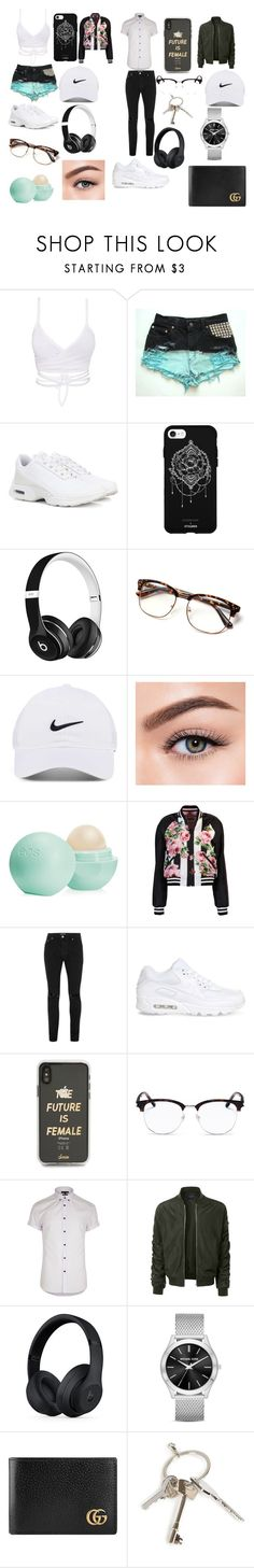"""""""Sin título #33"""" by mariamdepaula on Polyvore featuring NIKE, Fifth & Ninth, Beats by Dr. Dre, Morphe, Eos, Dolce&Gabbana, Topman, Sonix, Yves Saint Laurent y River Island"""