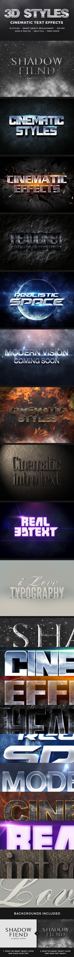 3D Cinematic Text Effects for Photoshop. Download here: http://graphicriver.net/item/3d-cinematic-text-effects-vol1/11031893?ref=ksioks