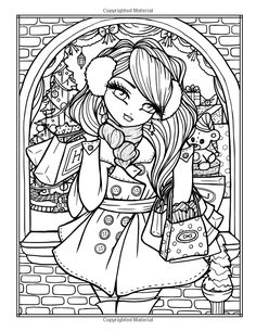 A Whimsy Girls Christmas Coloring Book: Festive Girls, Fairies, & Blank Coloring Pages, Printable Coloring Pages, Coloring Books, Coloring Sheets, Hannah Lynn, Creation Art, Christmas Coloring Pages, Christmas Colors, Colorful Pictures