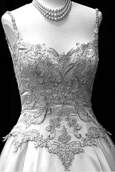 bling bodice wedding dress with straps
