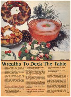 #1982 #Wreaths For #Holidays and A Lovely #TunaMousse #Recipes