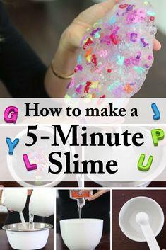 Homemade 5-Minute DIY Slime: Entertain Your Kids for Hours - http://www.thebudgetdiet.com/homemade-5-minute-diy-slime-entertain-your-kids-for-hours?utm_content=snap_default&utm_medium=social&utm_source=Pinterest.com&utm_campaign=snap