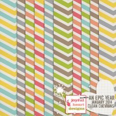 An Epic Year: Jan 2014 - Clean Chevrons :: Papers :: Memory Scraps