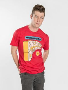 58496dec Men's Book T-Shirts   Out of Print Breakfast Of Champions, Mens Tees