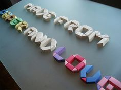 Paper alphabet  - have to make these as signage for my next origami display