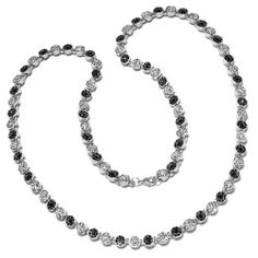 Mens Hip Hop Style Platinum Plated Iced Out With Flower Cluster White & Black Crystal Chain (30 Inch Necklace) DazzlingRock Collection. $29.99. Crafted in Platinum-plated-base-metal. Crystal Color / Clarity : Black & White / Clean. This necklace is iced out. Get most bang for your buck. Save 67% Off!