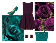 """""""Teal and Purple"""" by grateful-angel ❤ liked on Polyvore featuring Dorothy Perkins, Diane Von Furstenberg, Giuseppe Zanotti and Henri Bendel"""