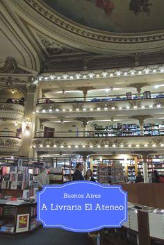 A #livraria El Ateneo – Grand Splendid em Buenos Aires, na #Argentina é uma das #livrarias mais bonitas que eu já visitei. Abrigada em um antigo #teatro do século XX, ela respira elegância e beleza.