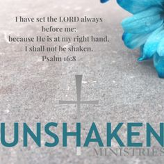 In a fast-paced world where things can feel uncertain, we can be UNSHAKEN, standing firm in Jesus Christ.