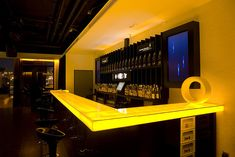 Light up bar top idea