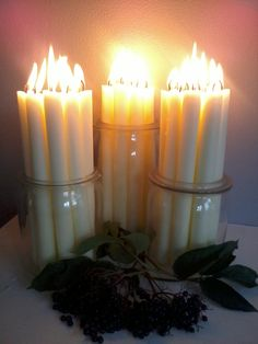 Candlelight.  We do candles in bulk at BeverlyHillsCandle.com. We offer taper candles like these, pillar candles, ball candles, votive candles, tealights, even floating candles, with and incredible selection of colors, at the best prices on line.  Have a look at our site to see the entire selection. www.BeverlyHillsCandle.com