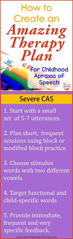 Create an Amazing Therapy Plan for Severe CAS www.speechsproutstherapy.com