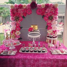 Trendy birthday party ideas 56 Ideas ideas for birthday Barbie Birthday, 40th Birthday Parties, Birthday Party Decorations, Birthday Cake Decorating, Cake Birthday, Birthday Ideas, Kate Spade Party, Kate Spade Bridal, Shower Party