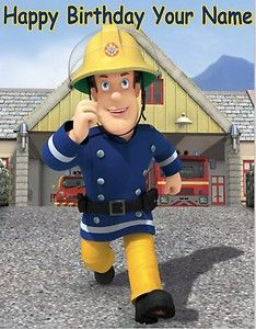 Fireman Sam - 2a -  Edible Photo Cake Topper - Personalized  - $3 shipping