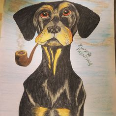 Pipe smoking Dog Pipe Smoking, Scooby Doo, Moose Art, Drawings, Dogs, Fictional Characters, Animals, Animales, Animaux