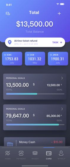 Dribbble - by Phaethon Hao Ios App Design, Mobile Ui Design, Dashboard Design, Interface Design, Android App, Card Ui, Graphisches Design, Graphic Design, App Design Inspiration
