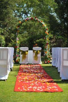 Multicolor wedding ceremony Algarve Portugal by Algarve Wedding Planners