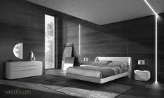 Camere Da Letto Moderne Con Comodini Sospesi.Un Interessante Esempio Di Letti Comodini Sospesi Letto Link