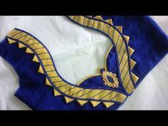 Hello Viewers Welcome To MMS DESIGNER. This video will show you how to create a beautiful and simple way MMS Latest Blouse Back Neck designs Easy Cutting and.very beautiful neck design with anchor thread cutting and stitching Salwar Neck Designs, Saree Blouse Neck Designs, Neckline Designs, Kurta Neck Design, Blouse Neck Patterns, Sari Blouse, Patch Work Blouse Designs, Simple Blouse Designs, Stylish Blouse Design