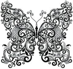 Butterfly in black and white - modern counted cross stitch kit: Amazon.co.uk: Kitchen & Home