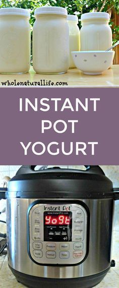 Make easy homemade yogurt in your Instant Pot! Make easy homemade yogurt in your Instant Pot! Easy Yogurt Recipe, Instant Pot Yogurt Recipe, Homemade Yogurt Recipes, Instant Recipes, Instant Pot Pressure Cooker, Pressure Cooker Recipes, Slow Cooker, Pressure Cooking, Pressure Pot