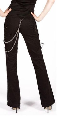 """Covet Corset Bondage Pants. Fancy words for """"jeans with ribbon and chains"""""""