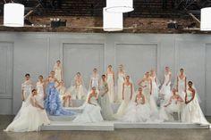 Monique Lhuillier New York Bridal Week primavera 2015 Vera Wang Wedding Gowns, Blue Wedding Gowns, Classic Wedding Gowns, Wedding Dressses, Colored Wedding Dresses, Wedding Dress Styles, Bridal Gowns, Monique Lhuillier, Elle Fashion