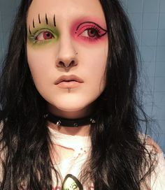"""654 Likes, 13 Comments - Clara (@natural.b0rn.l0ser) on Instagram: """"did some cute makeup inspired by my Marilyn Manson shirt but obviously couldn't get any decent…"""""""