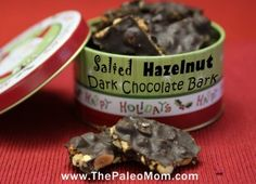 I found My Holiday treat to make. YUM Chocolate and Hazelnut. Two of my Favorites Salted Hazelnut Dark Chocolate Bark - The Paleo Mom Paleo Chocolate, Chocolate Bark, Baking Chocolate, Chocolate Truffles, Chocolate Hazelnut, Paleo Mom, How To Eat Paleo, Gluten Free Sweets, Healthy Sweets