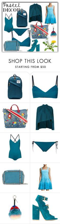 """pastel decora"" by kristeen9 ❤ liked on Polyvore featuring Herschel Supply Co., Malia Mills, Dolce&Gabbana, Marni, STELLA McCARTNEY, Diane Von Furstenberg, Fendi and Laurence Dacade"