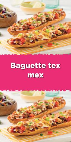 3 Ingredient Recipes, Good Food, Yummy Food, Mexican Food Recipes, Ethnic Recipes, Tex Mex, 3 Ingredients, Baguette, Sandwiches