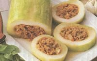 Sausage Stuffed Baked Marrow recipe