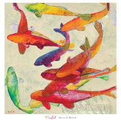 Tangletown Fine Art Tangled by Brenda K. Bredvik Fine Art Giclee Print on Gallery Wrap Canvas, 30 Metal Wall Art, Framed Wall Art, Framed Prints, Painting Frames, Painting Prints, Art Prints, Red Artwork, Canvas Art, Canvas Prints