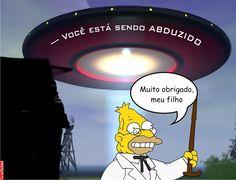 """Grafados: Abraham """"Abe"""" Simpson - Muito obrigado meu filho (Thank you my son) #abduction #abduzido #OVNI #aliens"""