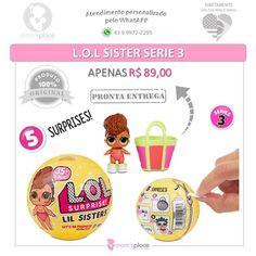 Alguém querendo LOL por ai??? Na Moms Place tem!!! As bonequinhas que encantam a todos!!! Complete sua coleção e peça já a sua!!! R$ 8900  Frete   #lolsurprise #lolsurprisedolls #biglol #bigsuprise #loldolls #importados #original #prontaentrega #recebaemcasa #lolserie3 #lolsister #lolpet #lolgliter #importadoslondrina #momsplaceimportados