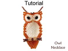Jewelry Making - Beading Pattern - Beaded Owl Necklace Tutorial - Brick Stitch - Fall Autumn - Simple Bead Patterns - Owl Necklace Jewelry Making Tutorials, Beading Tutorials, Beading Patterns, Jewellery Making, Peyote Stitch Patterns, Fall Jewelry, Simple Jewelry, Beaded Jewelry, Beaded Earrings