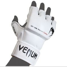 "Venum ""Impact"" MMA Gloves - Skintex Leather - Ice S by Venum. $55.30. The MMA Venum Impact Gloves are hand-Made in Thailand. As a MMA gear reference, Venum could not go wrong on this product.  The main aim of the infamous Snake logo brand is to offer comfort and ergonomics as well as a long-lasting lifetime to the Impact Gloves. With no flourish and no gimmicks, Venum signs a top notch product. The Snake's high quality policy puts these gloves on the highest step ..."