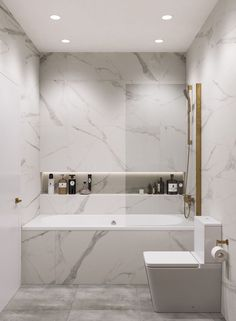 Shower room – marble Shower Bath Set Up Marble Bathroom Set Up Modern Marble and Gold Bathroom Long Shower Niche Long Shower Recess - Marble Bathroom Dreams