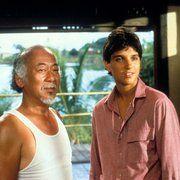 Ralph Macchio and Pat Morita in The Karate Kid (1984)