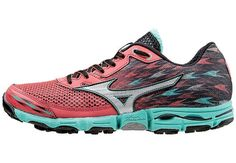 The all-terrain Mizuno Wave Hyate 2 ($110) features support and protection to keep you safe on rocky trails.: