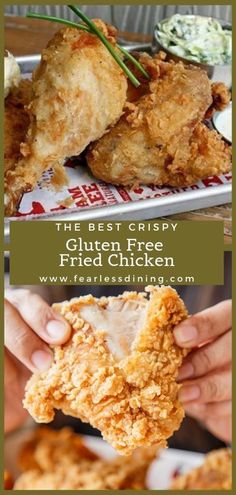 This mouthwatering, crispy gluten free fried chicken recipe is INCREDIBLE! Easy… This mouthwatering, crispy gluten free fried chicken recipe is Gluten Free Fried Chicken, Fried Chicken Dinner, Fried Chicken Recipes, Roast Chicken, Chicken Flavors, Honey Chicken, Chicken Art, Keto Chicken, Rotisserie Chicken