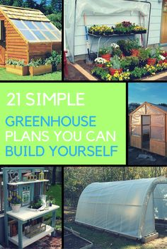 Want to build your own greenhouse, but don't know how? Here are 21 easy DIY greenhouse plans that you can build for your garden or backyard.| Ideahacks.com