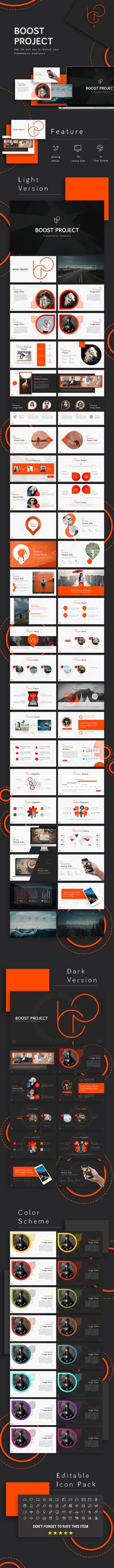 Buy Boost Project Powerpoint Template by RRgraph on GraphicRiver. Overview : Boost Project – Powerpoint Presentation Template is a modern Presentation that is beautifully designed an. Powerpoint Design, Business Powerpoint Templates, Powerpoint Presentation Templates, Keynote Template, Powerpoint Presentations, Presentation Slides, Business Presentation, Presentation Design, Project Presentation