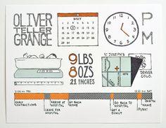 Birth Announcement Infographic