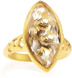 INDULGEMS Rock Crystal Marquise-Cut Ring on shopstyle.com