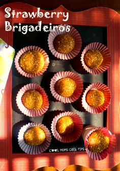 Perfect for dessert or after school snack try these delicious and easy to make Strawberry Brigadeiros #BacktoSchoolReady #ad