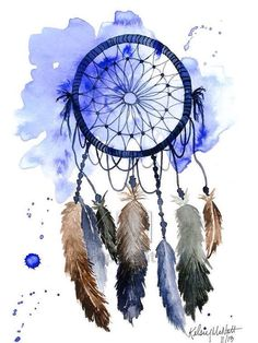 Dream catcher print of original watercolor by kelseymdesigns dream catcher painting, dream catcher watercolor, Dream Catcher Painting, Dream Catcher Art, Dream Catcher Watercolor, Native Art, Native American Art, Painting Prints, Painting & Drawing, Lapin Art, Watercolor Dreamcatcher