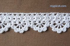 """MyPicot HOME WORK Free Pattern h008.pdf (Downloaded - SLT) Crochet patterns from """"HOME WORK"""", ROSE PUBLISHING CO. (LTD.), 1881 """"Narrow Alameda Lace No. 7"""""""