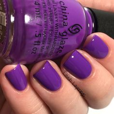 China Glaze- PLUR-ple Electric Nights Collection - China Glaze- PLUR-ple Electric Nights Collection Best Picture For Makeup green For Your Tast - Fancy Nails, Love Nails, How To Do Nails, Pretty Nails, Manicure And Pedicure, Gel Nails, Purple Pedicure, Pedicures, Nail Polishes